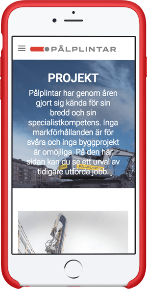 Pålplintar på iPhone